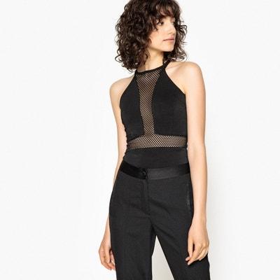 Body em malha de rede, alças finas, costas à competição Body em malha de rede, alças finas, costas à competição La Redoute Collections