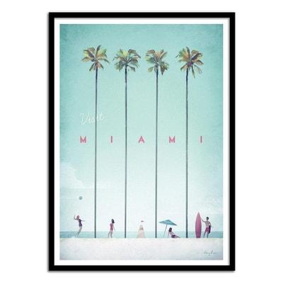 Affiche art 50x70 cm - Illustration Voyage - Visit Miami Affiche art 50x70 cm - Illustration Voyage - Visit Miami WALL EDITIONS