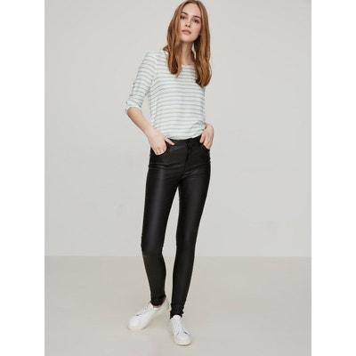 Pantalon Enduit Taille haute (34) VERO MODA