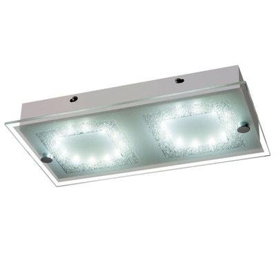Plafonnier LED x 24 design contemporain 12 W 33L x 18l x 5H cm Plafonnier LED x 24 design contemporain 12 W 33L x 18l x 5H cm HOMCOM