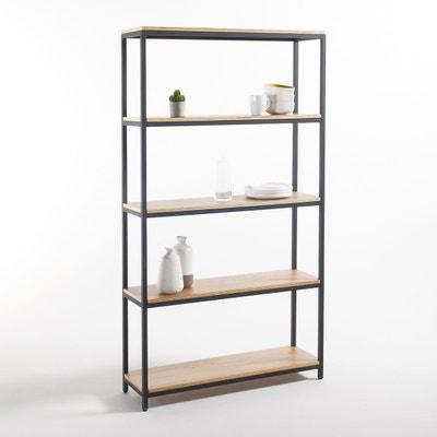 Grande étagère 5 tablettes métal et bois, Talist Grande étagère 5 tablettes métal et bois, Talist La Redoute Interieurs