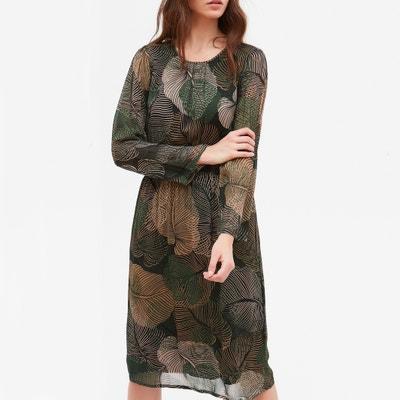Bedrukte jurk met lange mouwen ROUSSEL Bedrukte jurk met lange mouwen ROUSSEL HARTFORD