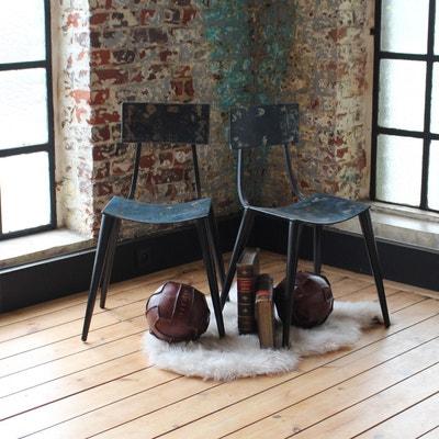 Chaise vintage conçue à partir de vieux bidons métal  |  ODR - En Soldes MADE IN MEUBLES