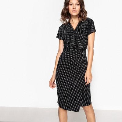 Wrapover Polka Dot Print Dress Wrapover Polka Dot Print Dress La Redoute Collections