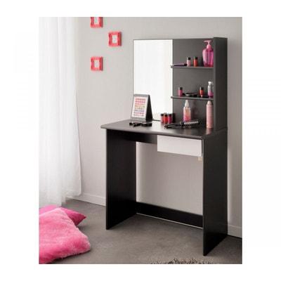 coiffeuse bois noire miroir terre de nuit coiffeuse bois noire miroir terre de nuit