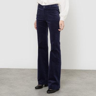 Pantaloni flare in velluto La Redoute Collections