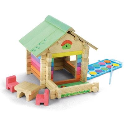 maison en bois peindre et construire avec 65 pices maison en bois peindre