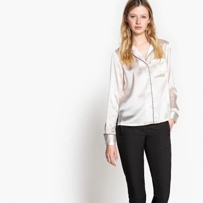 Satin Look Tailored Collar Shirt Satin Look Tailored Collar Shirt La Redoute Collections