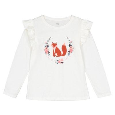 """T-shirt maniche lunghe """"volpe"""" 3 - 12 anni T-shirt maniche lunghe """"volpe"""" 3 - 12 anni La Redoute Collections"""