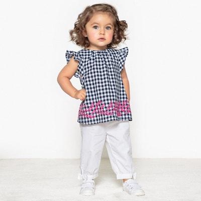 Conjunto de blusa y pantalón, 1 mes - 3 años Conjunto de blusa y pantalón, 1 mes - 3 años La Redoute Collections