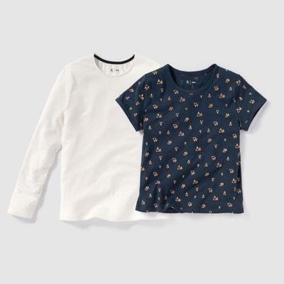 T-shirt imprimé 10-16 ans (lot de 2) La Redoute Collections