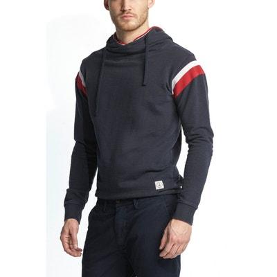 Sweat-shirt en maille unie à capuche avec rayures contrastantes aux épaules SALSA