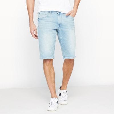 Bullseye Bermuda Shorts in Stretch Cotton Denim PETROL INDUSTRIES