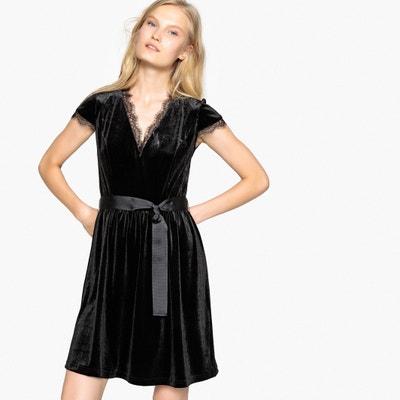 Halflange wijd uitlopende jurk met korte mouwen Halflange wijd uitlopende jurk met korte mouwen La Redoute Collections