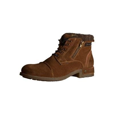 Desert boots homme en croûte de cuir  cognac Devred  La Redoute