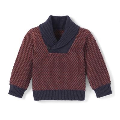 Trui in grof tricot met sjaalkraag - Oeko Tex La Redoute Collections