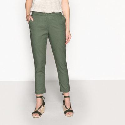 Cotton & Linen Blend Trousers, Length 27