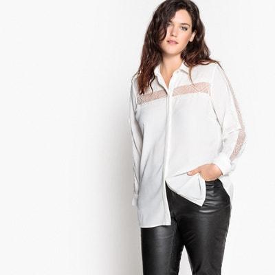 Camicia con applicazione pizzo Camicia con applicazione pizzo CASTALUNA