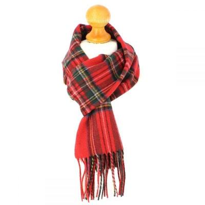 Echarpe carreaux en laine d Australie, Ecosse Rouge Echarpe carreaux en  laine d  813f0e4f6abc