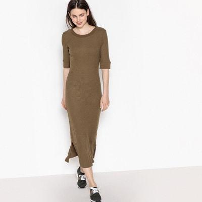 Półdługa gładka sukienka z rękawami do łokci Półdługa gładka sukienka z rękawami do łokci La Redoute Collections
