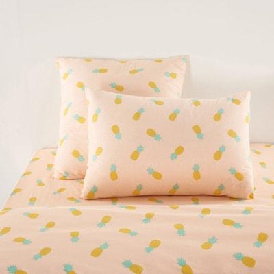 housse de couette ananas folies rose vert jaune la redoute interieurs la redoute. Black Bedroom Furniture Sets. Home Design Ideas
