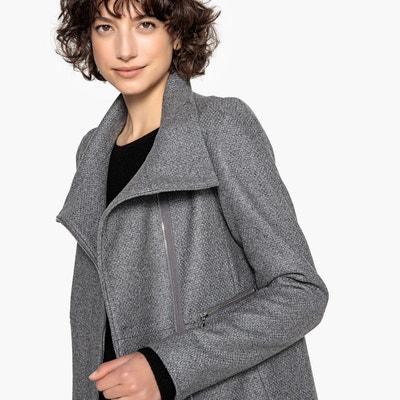 Manteau court zippé, col montant, 60% laine Manteau court zippé, col montant 3fe69c024065