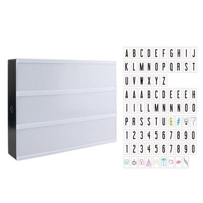 Luminaire 4 lettres