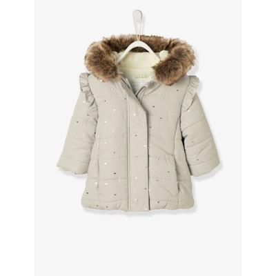Manteau gris bebe fille