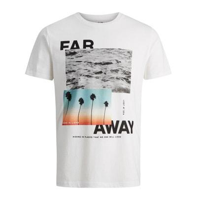 T-shirt col rond, motif devant JACK & JONES
