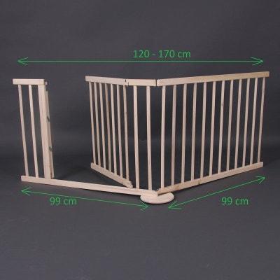 Barrière de sécurité Max 120-170cm, en bois, 2 panneaux Barrière de sécurité Max 120-170cm, en bois, 2 panneaux BAMBINO WORLD