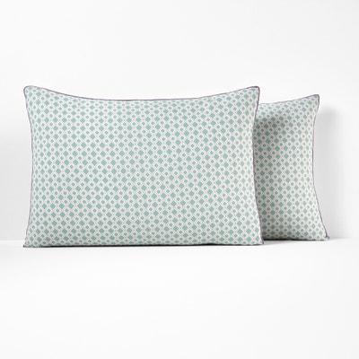 MASHITA Pure Cotton Printed Pillowcase MASHITA Pure Cotton Printed Pillowcase La Redoute Interieurs
