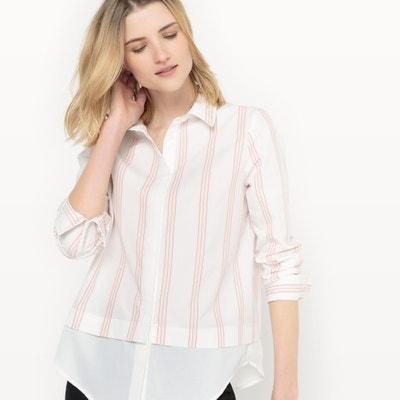 Camisa assimétrica em algodão, mangas compridas Camisa assimétrica em algodão, mangas compridas La Redoute Collections