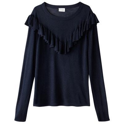 Пуловер с круглым вырезом, из тонкого трикотажа Пуловер с круглым вырезом, из тонкого трикотажа VILA