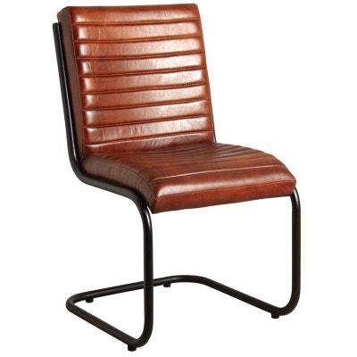 chaise en cuir et mtal aubry gaspard - Chaise En Cuir