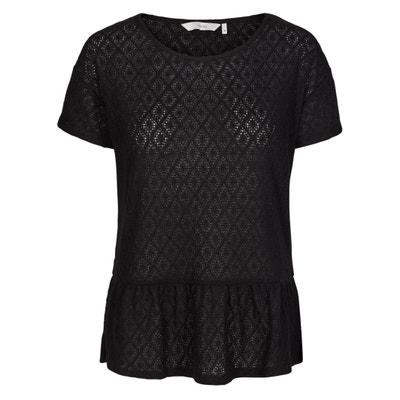 T-Shirt, runder Ausschnitt, Ajouroptik T-Shirt, runder Ausschnitt, Ajouroptik NUMPH