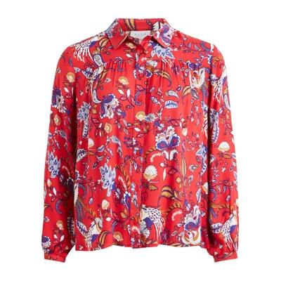 Camisa estampada às flores, mangas compridas Camisa estampada às flores, mangas compridas VILA