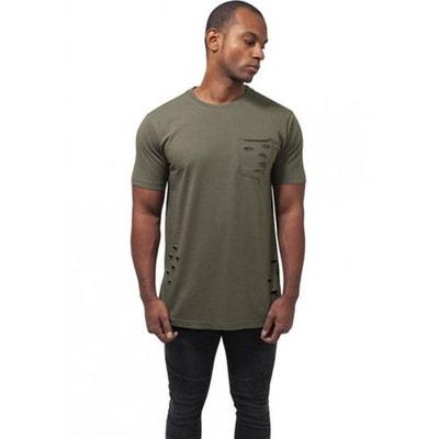 T-shirt effet déchiré avec poche T-shirt effet déchiré avec poche URBAN  CLASSICS e72ccb8b0d3d