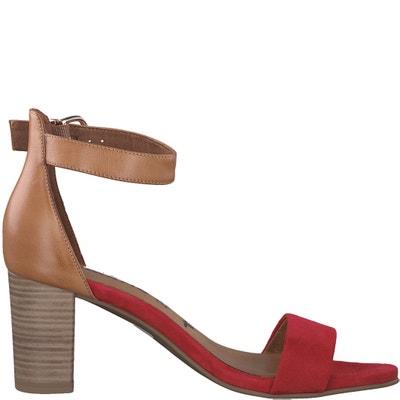 Sandali in pelle con tacco e cinturino alla caviglia Ela TAMARIS