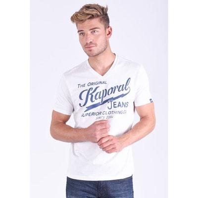T-shirt col V manches courtes Bruce T-shirt col V manches courtes Bruce KAPORAL
