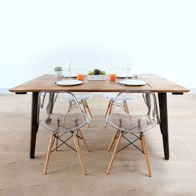 Table à manger industrielle en manguier  |  S04 Table à manger industrielle en manguier  |  S04 MADE IN MEUBLES