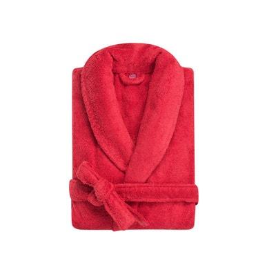 79fada1562e2 Peignoir col châle - coton peigné 450 g m² rouge basque Peignoir col châle  -. Soldes. BLANC CERISE