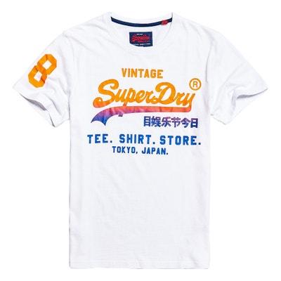 T-shirt de gola redonda, mangas curtas, estampada à frente SUPERDRY