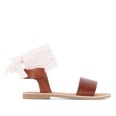 Sandalen in leer, enkellint La Redoute Collections