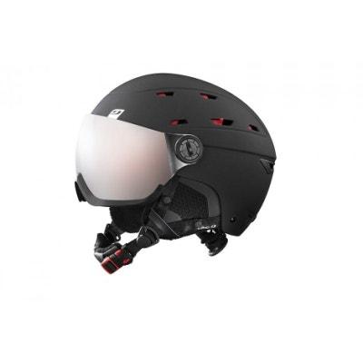 f702d15f3a4e18 Casque de ski mixte JULBO Noir NORBY VISOR Noir   Rouge - Ecran  interchangeable 1+