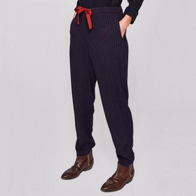 Pantalon droit rayé VAEL Pantalon droit rayé VAEL BELLEROSE. Soldes 94f48ddc14c5