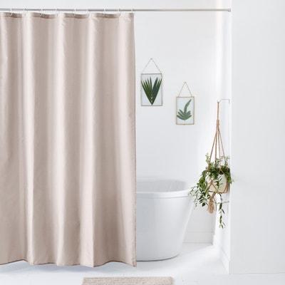 scenario plain canvas shower curtain la redoute interieurs. Black Bedroom Furniture Sets. Home Design Ideas