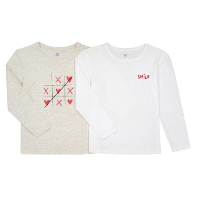Tee shirt manche longue fille - Vêtements enfant 3-16 ans en solde ... c213292d06f9