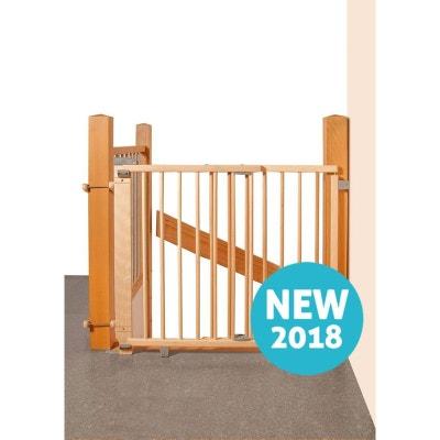 a48e5f43058075 Barrière de sécurité plus pour escalier 67-107 cm en bois naturel GEUTHER  Barrière de