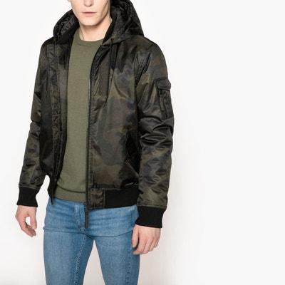 Blouson zippé à capuche, motif camouflage La Redoute Collections
