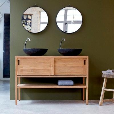 meuble salle de bain en bois de teck brut 120 arty tikamoon
